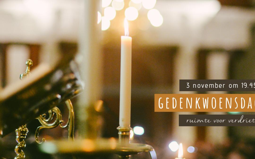 Gedenkwoensdag op 3 november